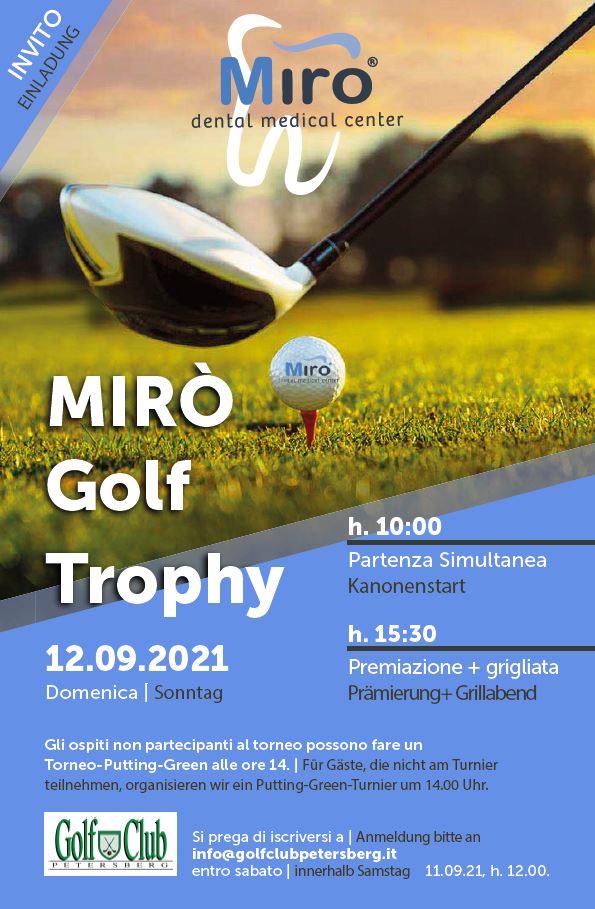 MIRO GOLF TROPHY Miro 2021