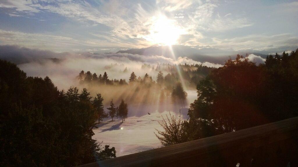 Golfclub Petersberg Hole 9 in Winter Mittel